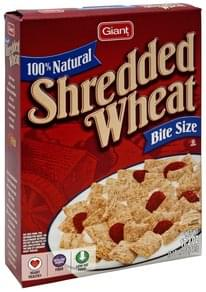 Giant Cereal Shredded Wheat, 100% Natural, Bite Size