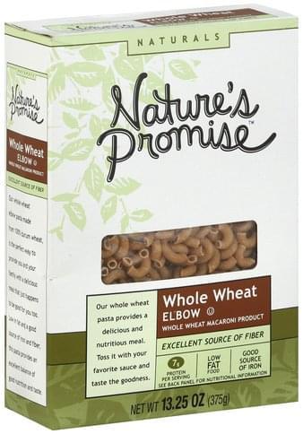 Natures Promise Whole Wheat Elbow Macaroni - 13.25 oz