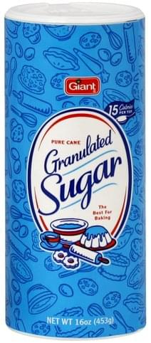 Giant Pure Cane Granulated Sugar - 16 oz