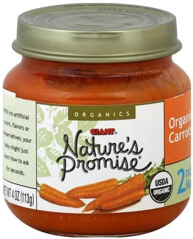 Natures Promise Organic, 2nd Meals Carrots - 4 oz