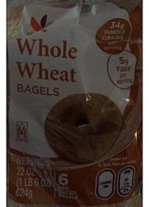 Giant Whole Wheat Bagels