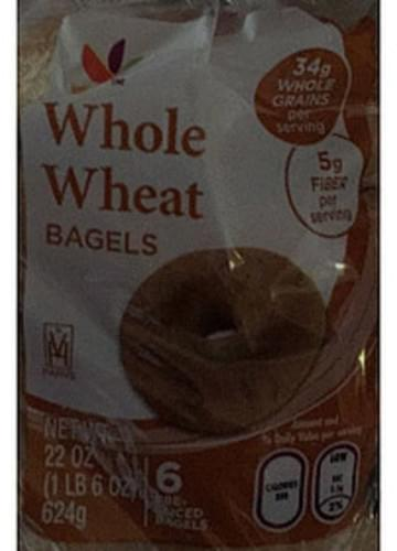 Giant Whole Wheat Bagels - 104 g