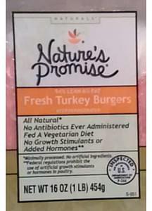 Nature's Promise Naturals Fresh Turkey Burgers
