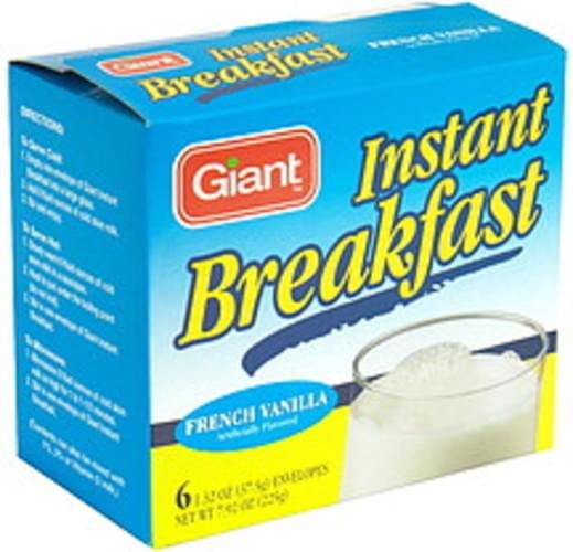 Giant French Vanilla Instant Breakfast - 6 ea