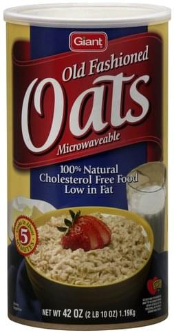 Giant Old Fashioned Oats - 42 oz