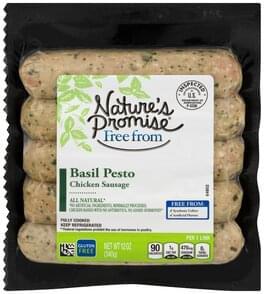 Natures Promise Chicken Sausage Basil Pesto
