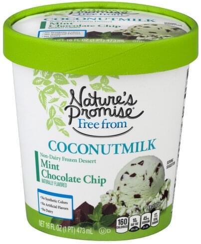 Natures Promise Coconutmilk, Mint Chocolate Chip Frozen Dessert - 16 oz