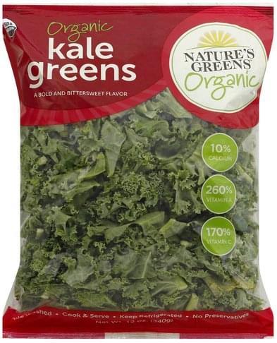 Natures Greens Organic Kale Greens - 12 oz
