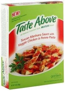 Taste Above Tuscan Marinara Sauce with Veggie Chicken & Penne Pasta
