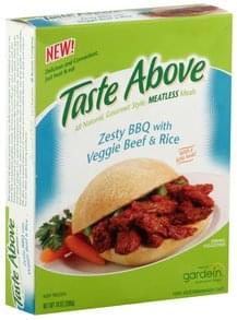 Taste Above Zesty BBQ with Veggie Beef & Rice