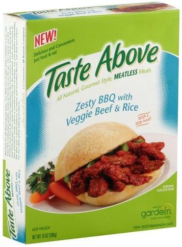 Taste Above Zesty BBQ with Veggie Beef & Rice - 10 oz