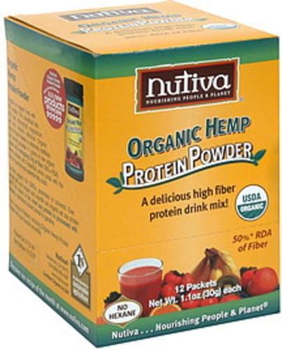 Nutiva Organic Hemp Protein Powder - 12 ea