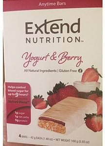 Extend Nutrition Anytime Bars Yogurt & Berry