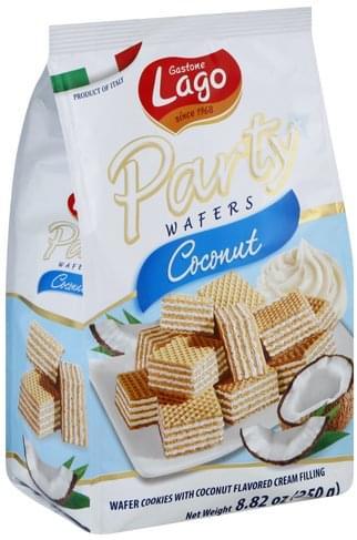 Gastone Lago Coconut Party Wafers - 8.82 oz
