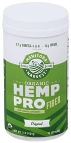 Manitoba Harvest Hemp Powder Organic, Pro Fiber, Original