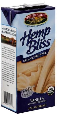 Manitoba Harvest Organic, Vanilla Hemp Milk - 32 oz