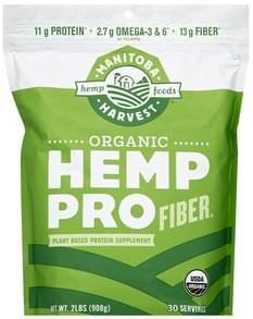 Manitoba Harvest Protein Supplement Plant Based, Hemp Pro Fiber, Organic
