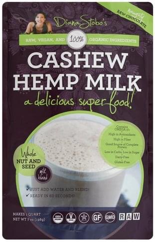 Diana Stobos Cashew, Naughty Raw Chocolate Hemp Milk - 7 oz