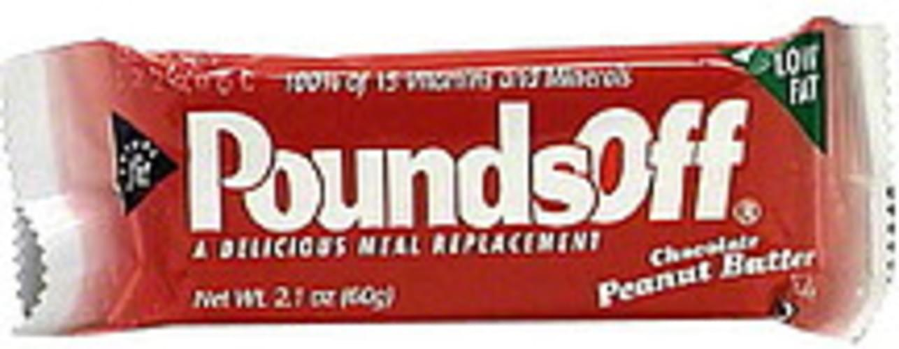 Pounds Off Meal Replacement Bar, Chocolate Peanut Butter - 2.1 oz