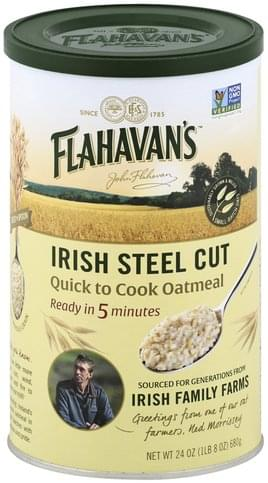 Flahavans Irish Steel Cut, Quick to Cook Oatmeal - 24 oz
