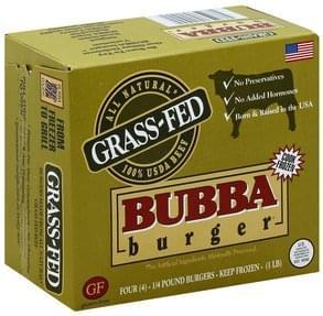 Bubba Burger Grass-Fed Beef