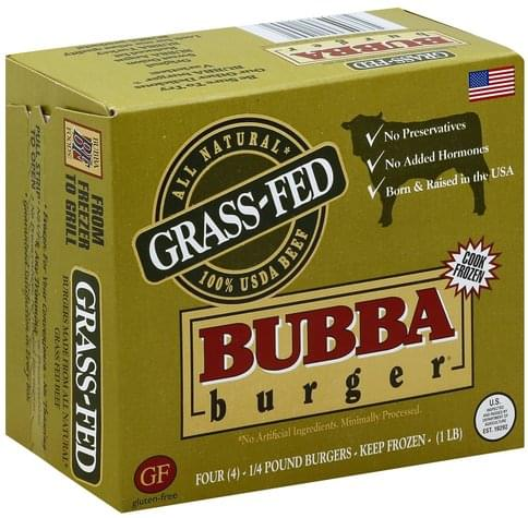 Bubba Grass-Fed Beef Burger - 4 ea