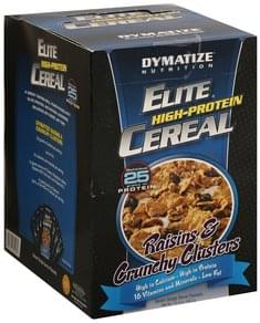 Dymatize Elite High-Protein Cereal Raisins & Crunchy Clusters