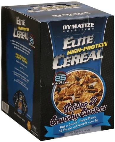 Dymatize Raisins & Crunchy Clusters Elite High-Protein Cereal - 7 ea