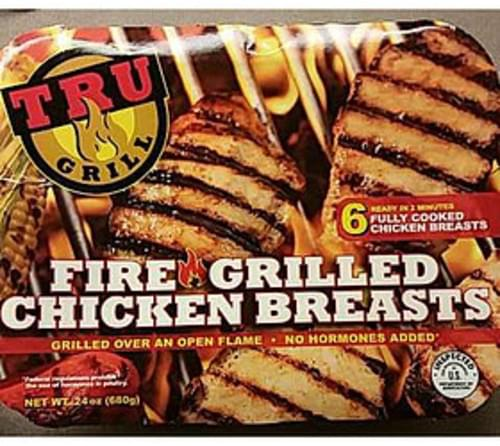 Tru Grill Fire Grilled Chicken Breasts - 114 g