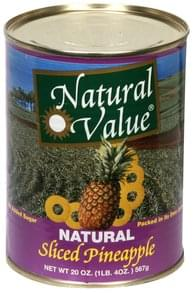 Natural Value Sliced Pineapple Natural