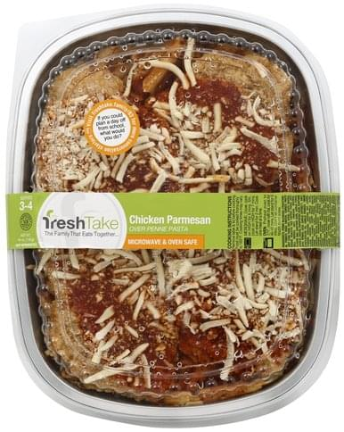 FreshTake Chicken Parmesan Over Penne Pasta - 48 oz