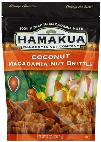 Hamakua Coconut Macadamia Nut Brittle - 8 oz