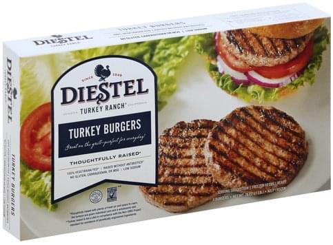 Diestel Turkey Burgers - 4 ea