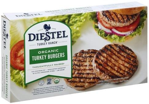 Diestel Organic Turkey Burgers - 4 ea