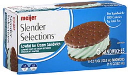 Meijer Ice Cream Sandwich Mint