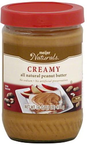 Meijer Naturals Creamy Peanut Butter - 16 oz