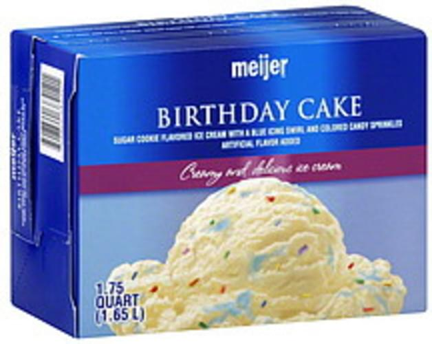 Pleasing Meijer Birthday Cake Ice Cream 1 75 Qt Nutrition Information Funny Birthday Cards Online Inifodamsfinfo