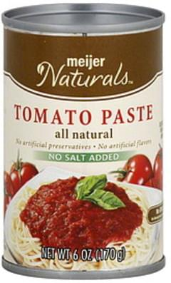 Meijer Naturals Tomato Paste No Salt Added