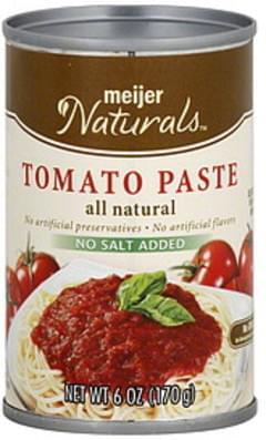 Meijer Naturals Tomato Paste No Salt Added