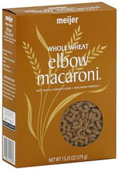 Meijer Elbow Macaroni Whole Wheat