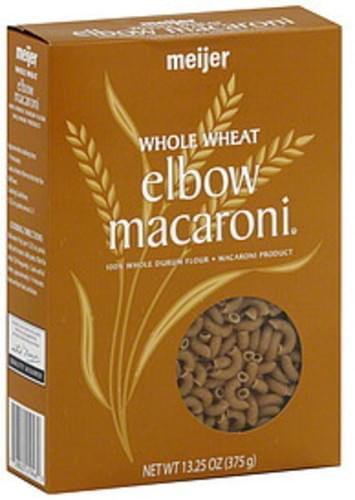 Meijer Whole Wheat Elbow Macaroni - 13.25 oz