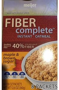 Meijer Maple & Brown Sugar Instant Oatmeal