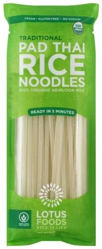 Lotus Foods Pad Thai, Traditional Rice Noodles - 8 oz