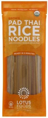 Lotus Foods Pad Thai, Brown Rice Noodles - 8 oz