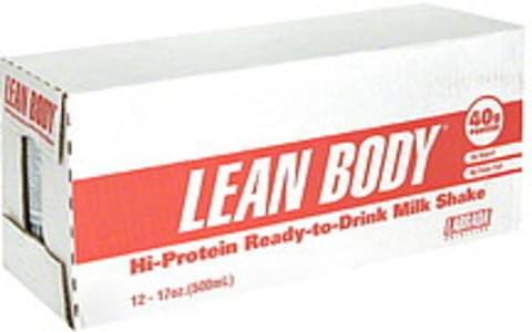 Lean Body Hi-Protein Ready-to-Drink Milk Shake Chocolate Ice Cream