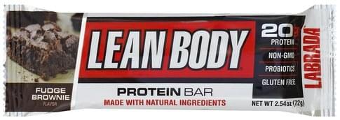 Lean Body Fudge Brownie Flavor Protein Bar - 2.54 oz