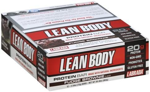Lean Body Fudge Brownie Flavor Protein Bars - 12 ea