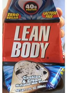 Lean Body Cookies & Cream Hi-Protein Milk Shake