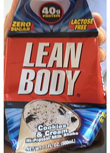 Lean Body Hi-Protein Milk Shake Cookies & Cream - 500 ml