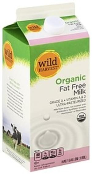 Wild Harvest Fat Free, Organic Milk - 0.5 gl